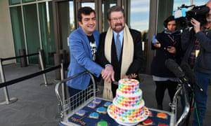 Sam Dastyari (left) and Derryn Hinch