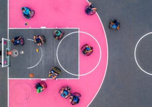 Ball is Life, shot on DJI Phantom 4 at the Pro Ball is Life Competition, 2018, Spark Court