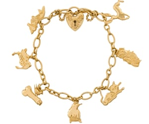Charming … bracelet, with tiny penis, from Tracey Emin and Stephen Webster's new jewellery range.