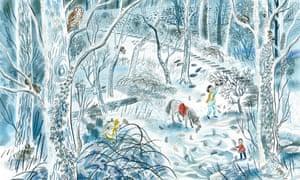 Emily Sutton illustration for Katherine Rundell's One Christmas Wish