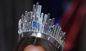 The crown – 'which looks like the planet Krypton from Superman exploded and landed on her head'