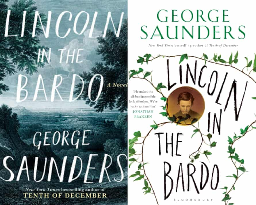 The covers of Lincoln in the Bardo by George Saunders