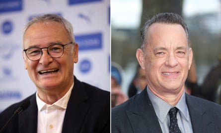 Who'd bet against it? … Claudio Ranieri, AKA the Tinkerman, Leicester City managerl; and actor Tom Hanks.