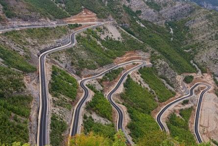 Cycling through the Prokletije mountain range on the Albania-Montenegro border.