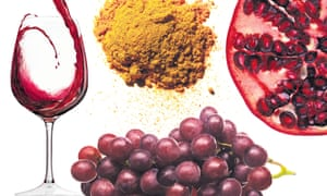 Life-enhancing? Red wine, turmeric, pomegranates and grapes can possibly help autophaging.