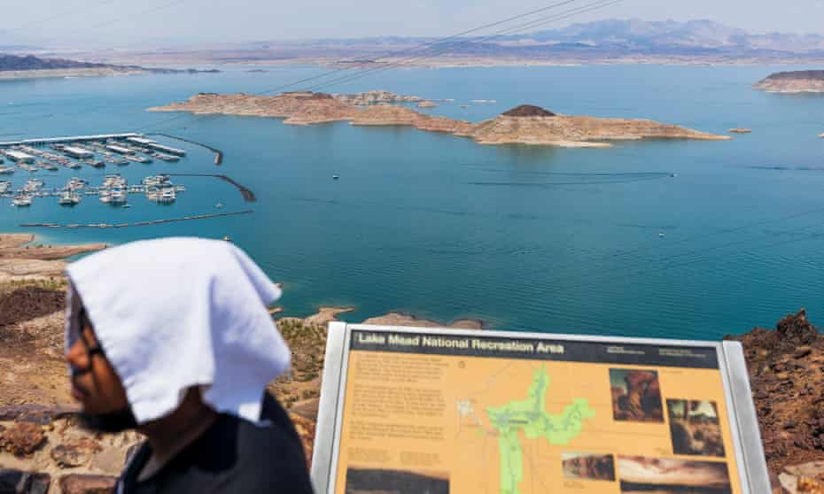 Lake Mead, the United States' largest reservoir, is at the lowest levels ever recorded.