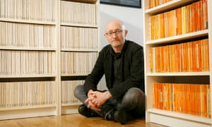 Nicholas Royle, at home with his Penguin Classics and Picador collections.