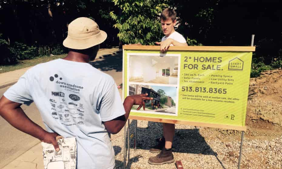 Brad Cooper received funding to develop his house-building project, Start Small.