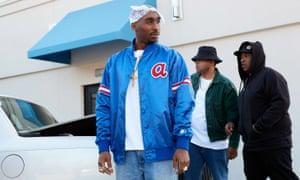 Accomplished impersonation … Demetrius Shipp Jr as Tupac Shakur.