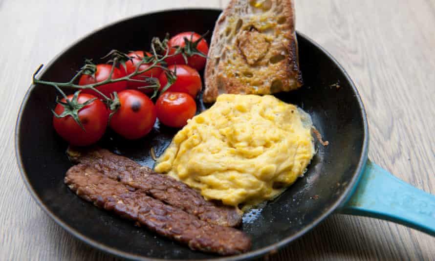 Felicity's vegan breakfast.