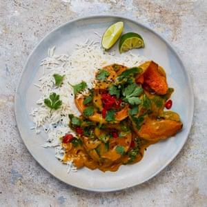 Yotam Ottolenghi's roast butternut squash curry