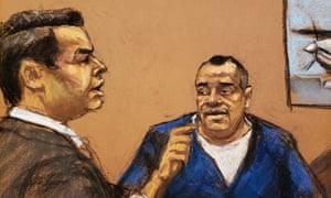 The assistant US attorney Anthony Nardozzi questions Isaías Valdéz Ríos in New York.
