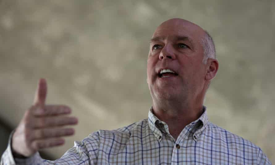 Republican congressional candidate Greg Gianforte, whose victory comes a day after being charged with assaulting a reporter.
