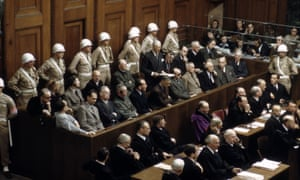 Nazi leaders in the dock at the Nuremberg trials, Germany, that ran from November 1945 to October 1946.