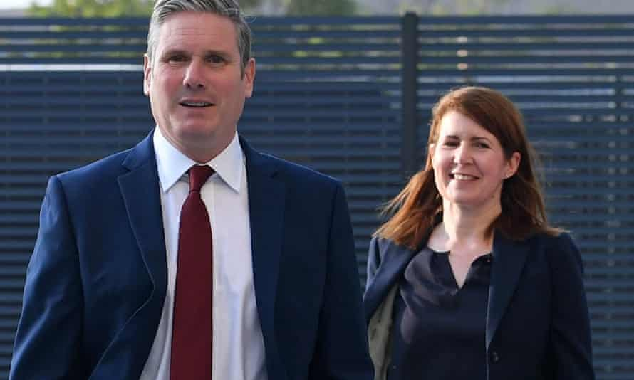 Jenny Chapman with Keir Starmer in September. Chapman is to shadow David Frost, who oversees Brexit and trade.