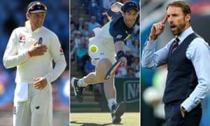 Joe Root, Andy Murray and Gareth Southgate