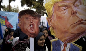 Iranian protesters mark anniversary of storming of US embassy that triggered a hostage crisis in 1979 on 4 November, just before the US imposed fresh sanctions.
