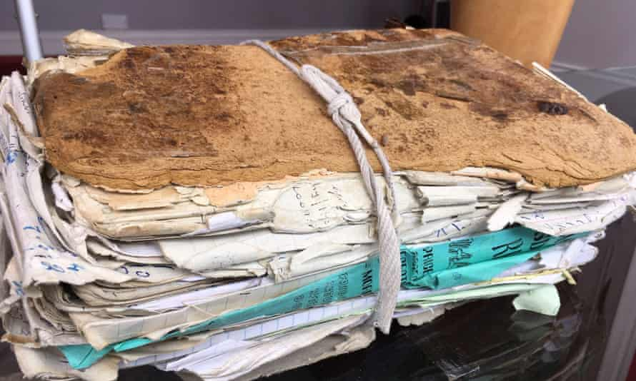 Willie Daly's matchmaking folder of notes on people seeking love.