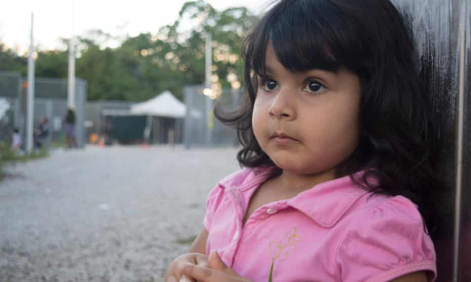 Roze, a two-year-old girl held on Nauru. Her parents say she is sociable and likes to play outside, but there is no place for children to play in Nauru. Her family has been in Nauru for five years. Her parents say that they would not wish on their worst enemies to see their own child growing up in island detention.