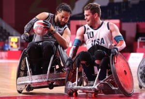 Hayden Barton-Cootes of New Zealand and Joshua Wheeler of the United States in action.