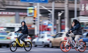Dockless app-based schemes have made cycling cool again in China.