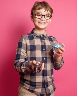 Louis with the SPRK+ robotic ball and Anki Overdrive Super Truck.