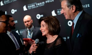 House speaker representative Nancy Pelosi and her husband Paul Pelosi arrive at the Kennedy Center for the Mark Twain Award for American Humour in Washington DC.