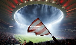 Atlético fans attend the opening night at the Wanda Metropolitano, against Málaga.