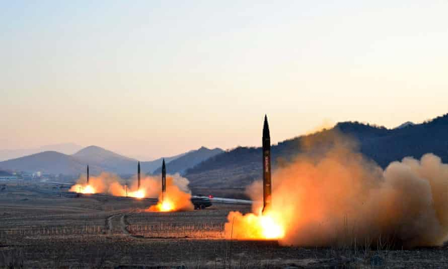 North Korean ballistic missiles. The document said nuclear weapons could 'create conditions for decisive results and the restoration of strategic stability'.