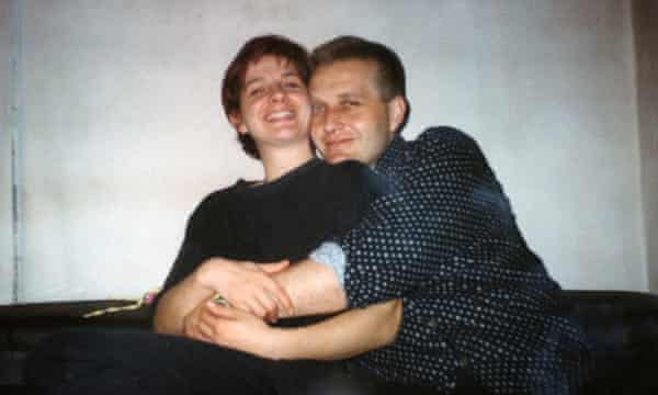 Lejna's mother and father Ivona and Elvir in 1995, the year the war ended.