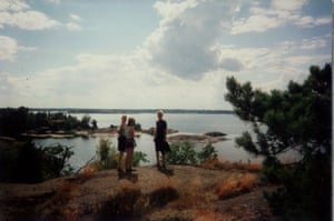 Here we are surveying our kingdom. In Sweden, the public have the right to roam freely - even on private land - to camp overnight and to pick mushrooms and berries. Anyone can hire a kayak and camp on one of these beautiful islands. The teenagers in Sunkissed<em> </em>get a lot of freedom to explore.