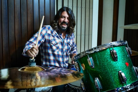 Dave Grohl photographed at home, Los Angeles.