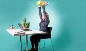 woman lifting paper