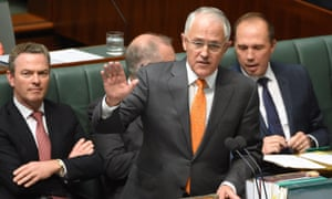 Prime minister Malcolm Turnbull in action in parliament on Tuesday.