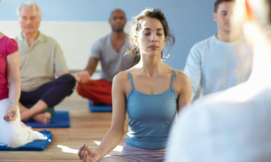 Individual within meditation class