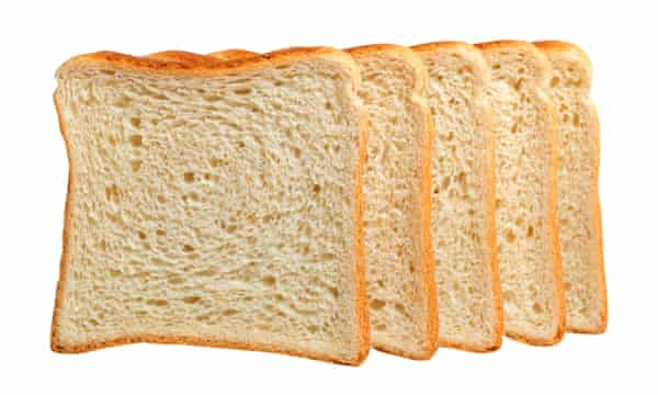 Mass-produced 'Chorleywood' bread.