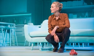 Carey Mulligan in Girls & Boys at the Royal Court.