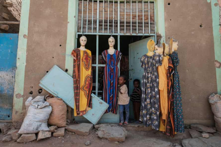 A damaged shop, Wukro, Ethiopia