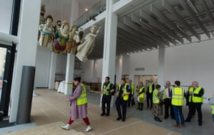 Picture by Jim Wileman - The unveiling of 14 huge ship figure heads, at The Box Museum, in Plymouth, Devon.