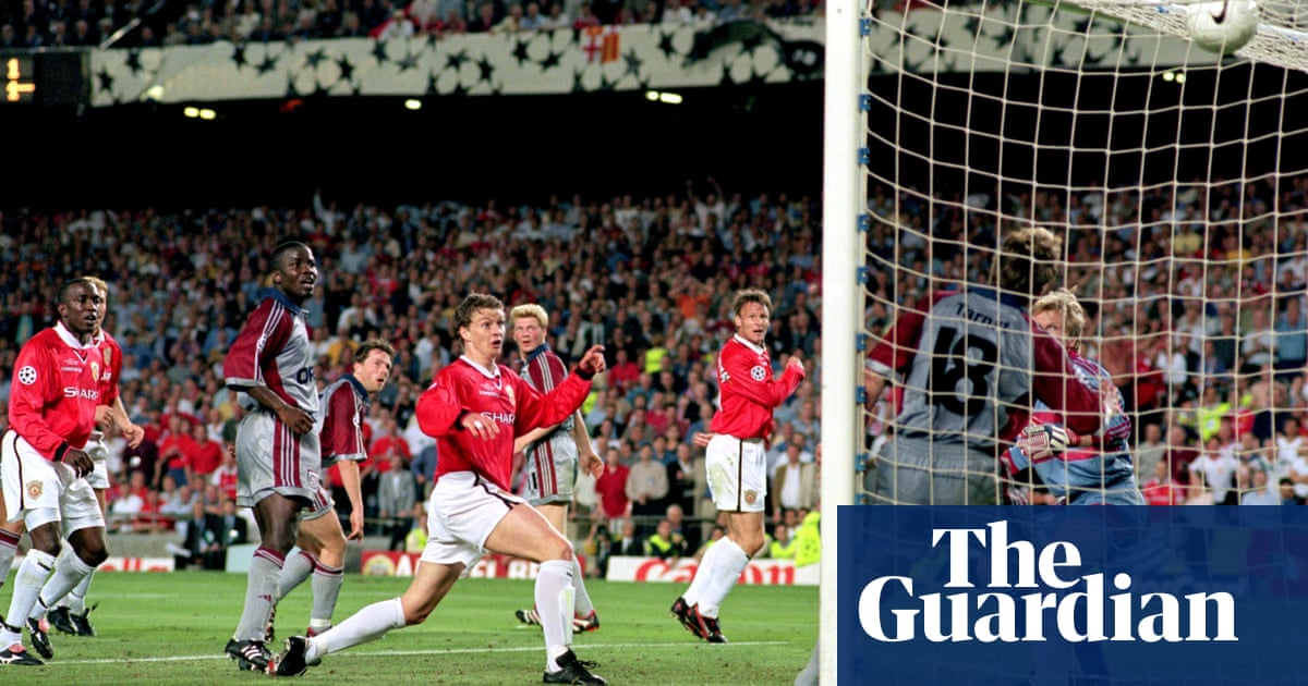 football how manchester united won the champions league in 1999 football the guardian football how manchester united won the