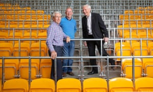 Left to right: John Richards, Wille Carr and Mel Eves at Molineux