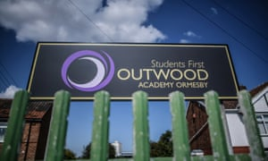 A sign for Outwood academy Ormesby