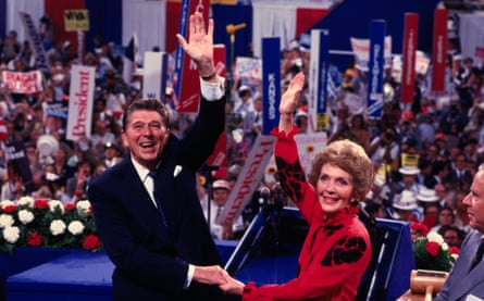 Ronald and Nancy Reagan at the 1980 Republican national convention.
