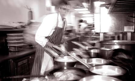 busy chef in kitchen