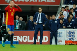 England's interim boss Gareth Southgate looks gutted.