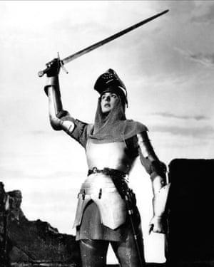 Ingrid Bergman as Joan of Arc