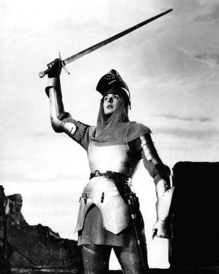 Ingrid Bergman as Joan of Arc.