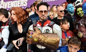 Fans arrive at the Avengers: Endgame premiere in LA.