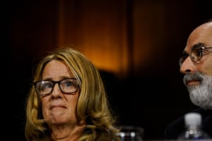 An emotional Ford, next to one of her lawyers