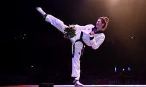 Double Olympic taekwondo champion and world champion Jade Jones.